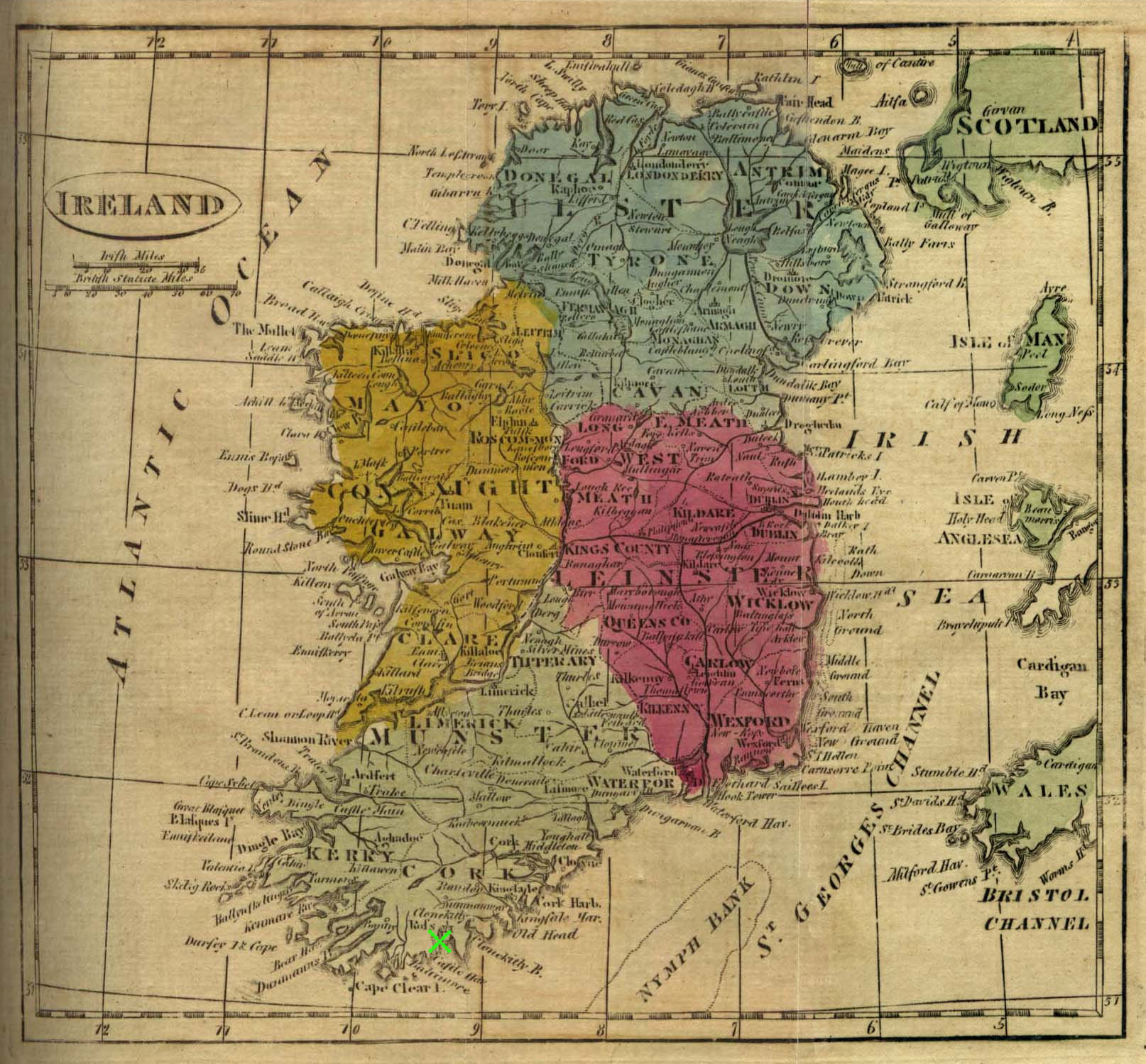 Photo gallery at the anchorage rosscarbery holiday cottage x marks west cork on old map of ireland gumiabroncs Image collections